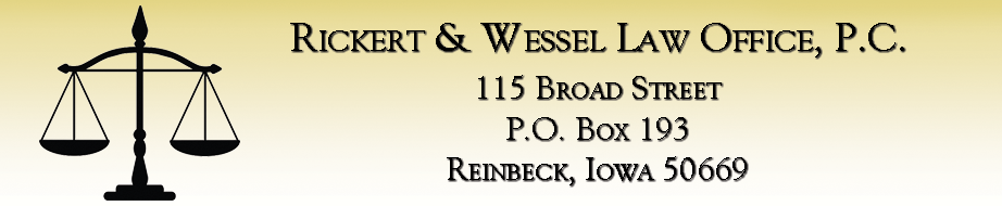 Rickert and Wessel Law Office, P.C. - 115 Broad Street, Reinbeck, Iowa 50669